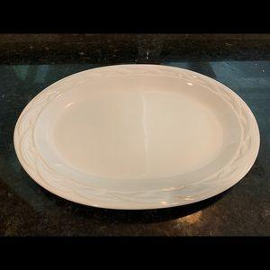 Pfaltzgraff Heritage White Basketweave Platter
